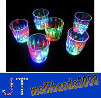 plastic beer cup - BE16 Dia cm H5 cm LED Beer Cup Flashing Shot Environmental Protection Plastic Flashing Mini Cups Night Bar Wedding Party Birthday Party