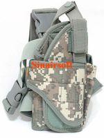 acu leg holster - OP Tactical Vertical Belt Drop Leg Puttee Thigh Leg Pistol Gun Holster Molle with Magazine Pouch Fit Most Handgun ACU