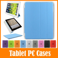 Cheap 50PCS For Apple iPad 2 3 4 5 Air Mini Top Quality Ultra Thin Leather Stand Smart Case Cover Best Cheap Cases For ipad2 Sleep   Wake Feature