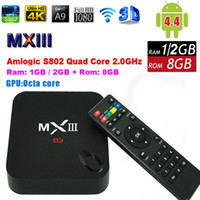 android dongle xbmc - Amlogic S802 Quad Core TV Box Android K MXIII G G Bluetooth WiFi XBMC Mini PC Google IPTV Media Player Miracast Dongle MX III