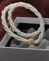 al por mayor collar de diamantes de imitación de la perla retorcida-La perla retorció los pendientes de los collares de la manera del rhinestone del oro de la cadena 18k la declaración gruesa de la declaración los collares trinkets bijouterie