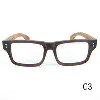 Full-Rim wood planks - Hand Made Natural Rosewood Glasses Frame High Quality Acetate Frame With Wood Grain Natural Wood Temples Optical Frame