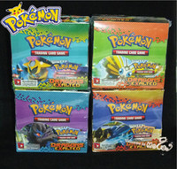 black gift boxes - DHL Hot Selling Poke Cards Pokemon Trading Card Game XY Black White Best Withes Box Box Set Children Card Toys Gifts