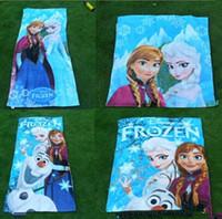 Wholesale New Fashion Frozen bath towel Elsa Anna olaf cotton bathing body Beach towels children gift cm