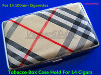 Cheap Pocket Leather Cigarette Tobacco Box Case Holder 100mm 14pcs