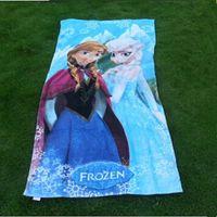 Wholesale Hot Fashion Frozen bath towel Elsa Anna olaf cotton bathing body Beach towels children gift cm