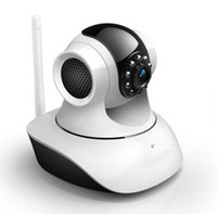 Wholesale Free DHL new arrived CCTV scan motion security LED camera IP camera P2P Wi Fi PC tilt pan multi cameras support cellphone