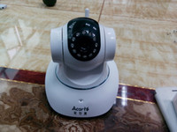 Wholesale 2014 new arrived CCTV Wireless Pan Tilt N vision Free P2P Network LED camera IP camera P2P Wi Fi PC tilt pan multi cameras support cellphone