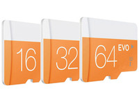 100% Clase capacidad original real tarjeta SD de 64 GB 32 GB 10 EVO 16 GB 8 GB 4 GB 2 GB Micr TF tarjeta de memoria flash C10 Adaptador SD SDHC SDXC Blanco Azul