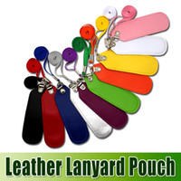 Portable PU Leather Lanyard Carrying Pouch Pocket Neck Sling...