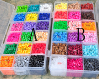 perler beads - Perler Beads HAMA Beads MM color with Grids Storage Box Guaranteed DIY educational toys learing gift Christmsa Gift