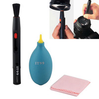 Wholesale NEW in1 IT99 Cleaning Kit Gas Blowing Lens Pen lens cloth