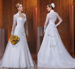 Vestido de noiva Custom Made Vintage 2019 Designer Beautiful Jacket Lace Wedding DressesBridal Gowns Via38