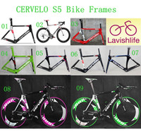 Cheap 2014 Cervelo Carbon Bike Frames S5 VWD Road Racing Bicycle Frameset Aero Tube Road Bicycle 3K T800 Full Carbon Fiber Cycling Frames