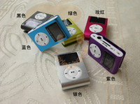 Wholesale 2014 New Hot MINI clip MP3 Player with data cable with mini MP3 with earphone with Colors with retail box