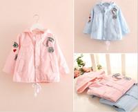 Wholesale Children s Korean Trench Coat Hooded Windbreaker Female Kids Clothing Season Label Girl Boy Coat Pocket Child Outwear GX899