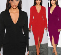 Kim Kardashian Red And Black Dress