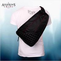 Wholesale Assassins Creed Desmond Messenger bag PU Shoulder Travel Messenger Shoulder Gamer Black Flag Backpack Bag