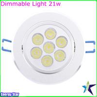 Wholesale New Dimmable W Downlight Spotlight X3W Bulb Energy Saving Lamp Good quality CREE High Power LEDs W W W W Ceiling Light Free Shippi