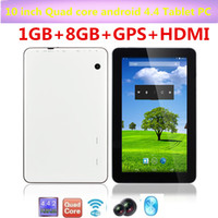 Wholesale 10 inch Quad core Tablet PC android MTK8127 GHZ G G Dual Camera GPS tablet WIFI Bluetooth Pixel Capacitive Screen