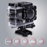Wholesale Free DHL Meter Waterproof Action Sports Camera inch Full HD DVR Diving P MP SJ5000 Cameras Helmet Camera HDMI Mini DV CAR DVR
