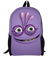Wholesale Hot sale cartoon school bags for kids gift Monsters University backpack bag D shoulder children knapsack P25