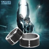 timer ring magic ring Titanium laser digital leather Rings B...