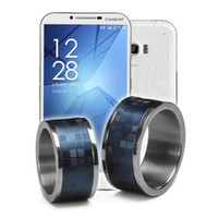 Wholesale New timer ring magic ring Titanium laser digital leather Rings Band Ring available for all of Android system mobiles cellphone with NFC