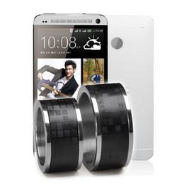timer ring anel mágico de Titânio digital a laser em couro Anéis Anel de Banda de cristais caixa de presente disponível para todo o sistema Android para celulares com NFC