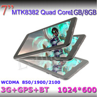 Wholesale 7 inch G WCDMA Tablet PC G G GPS Bluetooth MTK8382 Quad Core dual sim Ghz android Dual Sim HD Capacitive phablet cheapest