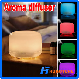 500ml Aroma Source Essential Oils Changable LED Lights Aromatherapy Diffuser Air Humidifier Purifiers for Home Office Living Room Yoga Spa