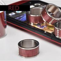 anel mágico do anel temporizador couro digital de titânio laser anéis anel de banda disponível para todos do sistema Android celulares celular com NFC