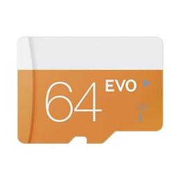 Class 10 EVO 64GB 32GB 16GB 8GB Micr SD Card MicroSD TF Memory Card C10 Flash SDHC SD Adapter SDXC White Orange Retail Package for DHL