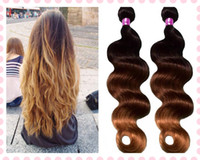 Cheap HOT SALES! 12-30 inch high quality virgin malaysian human hair weft ombre color #1b 4 27 100g pc 3pcs lot DHL free shipping