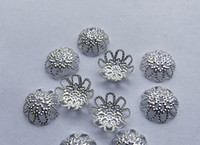 Wholesale 200pcs mm Plated Silver Torus Bead beads Caps Jewelry Finding Charms Receptacle For Handcraft