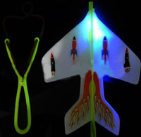 arrow plane - Best New Glow Flying Arrow LED Luminous Ejection Plane Amazing Arrow Helicopter Light Up Gift Retail Package LED Toys Arrow Helicopter