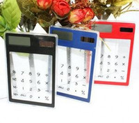 Wholesale ultrathin solar transparent calculator new exotic products retailer droppi TSQ167