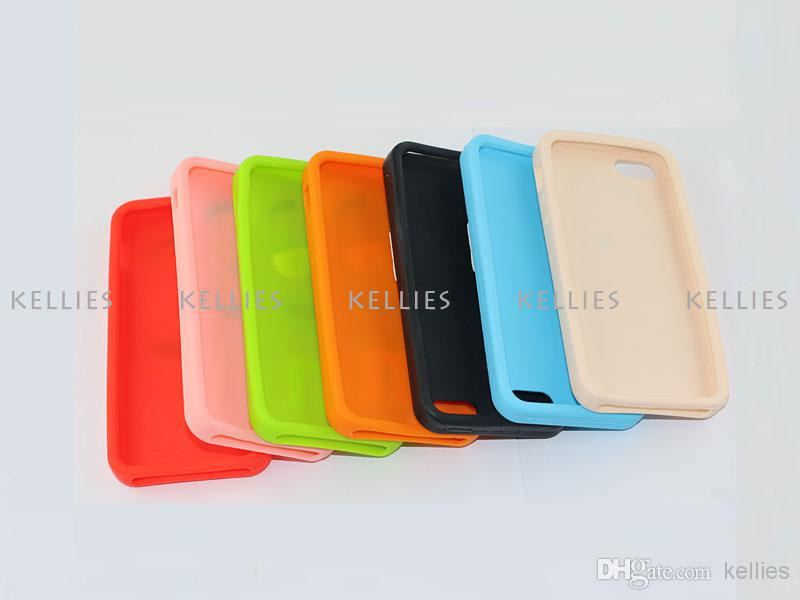Buy 3D Cute M&M Chocolate Rainbow Bean Silicon Soft Case Silicone Rubber Back Cover Skin Protector iPhone 4 5 5S 5C