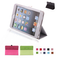 Wholesale iPad mini Case PU Leather Protective Cases Smart Stand Cover for Apple iPad Mini iPad mini Colours