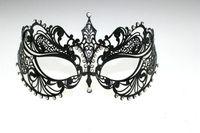 Wholesale Fashion Laser cut Metallic Mask Princess noble Venetian Masquerade Ball Masks with Rhinestone Fedex