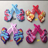 beautiful baby plastics - Beautiful Chidren Girl Hair Accessories Baby Girls my little pony Cartoon Barrettes Anime Head Hair s Clip Child Kids Kid Decora