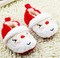 baby santa - Winter Christmas Santa Claus Modelling Baby First Walker Shoes Keep Warm Toddler Shoes Infant Shoes pair GX905