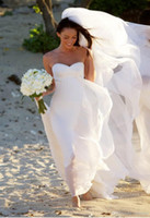 Cheap Hot New Megan Fox Gorgeous Sweetheart Empire Chiffon Wedding Dress Simple Beach Bridal Gowns For Maternity Women Fall Bridal Gowns