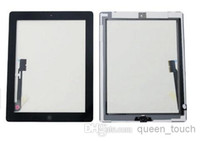 Wholesale pc OEM Touch Screen Glass Panel With Digitizer Replacement Black And White For iPad ipad mini Free DHL
