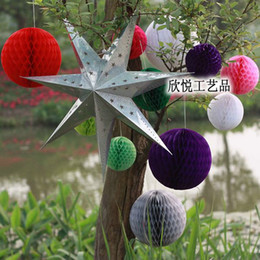 Christmas 15cm+20cm Mixed Sizes Lot of 20pcs Tissue Paper Honeycomb Balls Decorations Honeycomb Paper Decoration Christmas