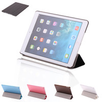 Wholesale US Stock iPad Air Case PU Leather Stand Smart Cover Cases Folding Folio For Apple iPad Air th Colors