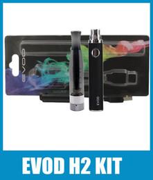 EVOD H2 Atomizer Blister Kit Capacity 650mah 900mah None Adjustable EVOD Battery Huge Vapor H2 Atomizer Vaporizer Starter Kit Colorful KZ018