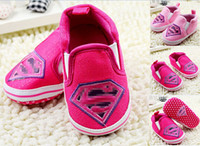 Wholesale 2014 Princess superman shoes the latest toddler shoes children shoes baby single shoes red pink infant indoor shoes pairs C