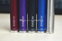 Cheap Ego vv Electronic Cigarette Battery ego V2 Passthrough 3-6v Variable Voltage Battery 7 Colors LCD Variable Watt