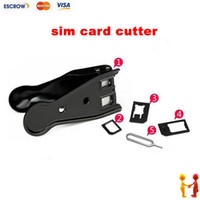 Wholesale Dual in Nano Micro sim card cutter for Phone s samsung Nano sim card cutting tool adapter
